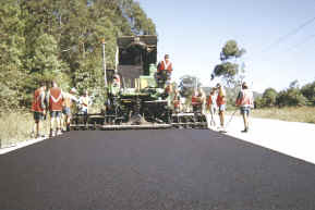 The process of asphalt paving in NSW